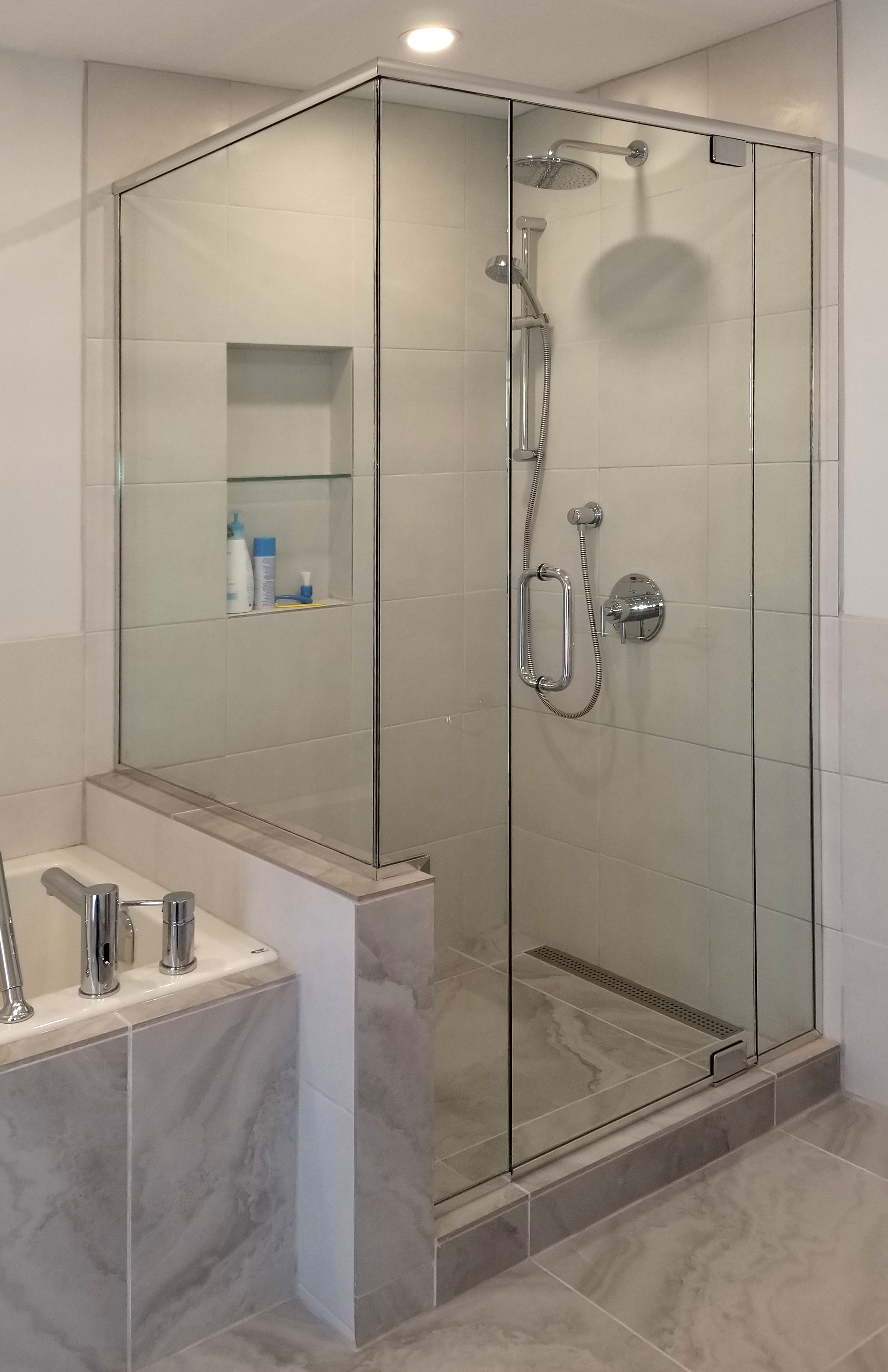 how to build a shower with glass door