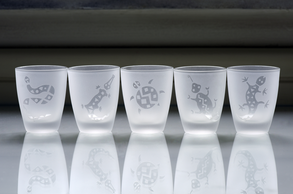 sandblasted glasses